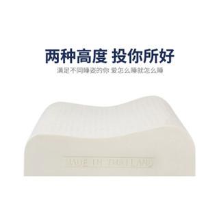 萨兰雅Saranya原装进口天然乳胶枕头 人体工学 三曲线设计颈椎 曼谷款 高低平面乳胶枕