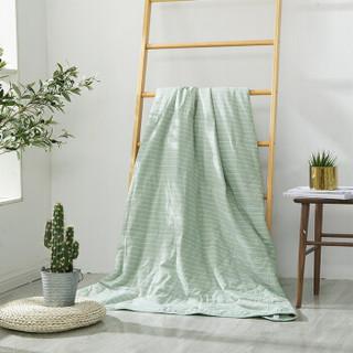 多喜爱(Dohia)被芯 纯棉色织水洗双人空调被 全棉夏被 薄被子 浅意溪草 229*230cm