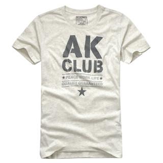 AK男装 (AKSERIES)军绿T恤 深花灰 XL