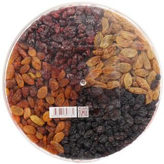 臻味 休闲零食 干果蜜饯果盘 蔓越莓葡萄干大礼包 环球圆满果干500g