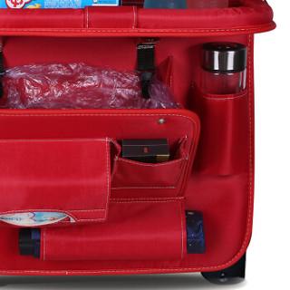 福车坊 汽车座椅背收纳袋挂袋车载多功能储物袋餐桌置物箱车内饰装饰用品垃圾袋牛津布背篼红色