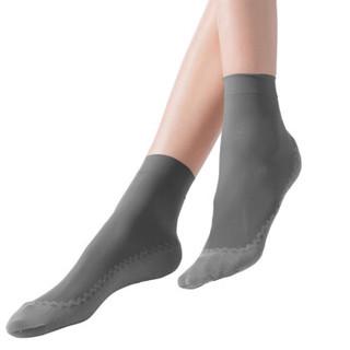法国皮尔卡丹短丝袜女6双吸汗防滑SPA面膜提花棉底短袜 烟灰色 6双防滑SPA面膜棉底短袜