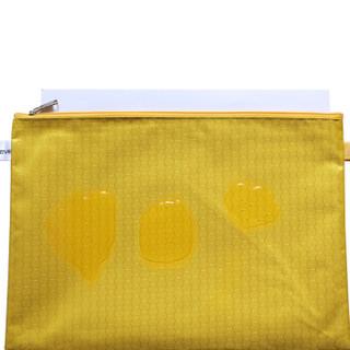 优必利 防水拉链文件袋 帆布文件资料收纳袋 手提袋办公用品 学生文具袋拉链票据袋10个装 黄色