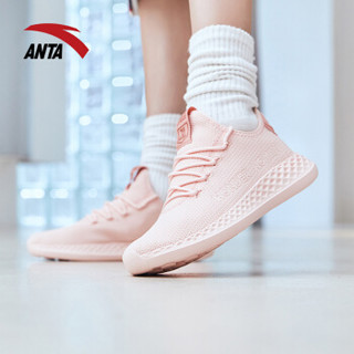 ANTA 安踏 92845535 92845535 女鞋跑步鞋DC鞋舒适缓震休闲旅游鞋女运动鞋 婴儿粉/浅裸粉 8.5 (女40)