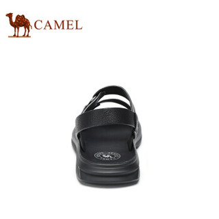 CAMEL 骆驼 韩版百搭舒适防滑两穿男士沙滩凉鞋 A922211582 黑色 43