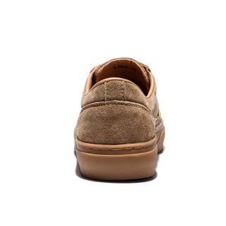 CAMEL 骆驼 小白鞋男韩版潮流休闲时尚运动系带 W912659010 棕色 42/260码
