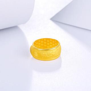 周六福 珠宝男款龙指环婚戒黄金戒指 AB012074 约9.4g