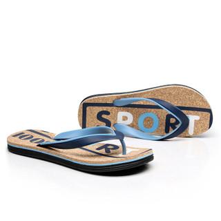 Nan ji ren 南极人 男士时尚简约夹脚户外沙滩人字拖鞋 043WPS5608 蓝色 40