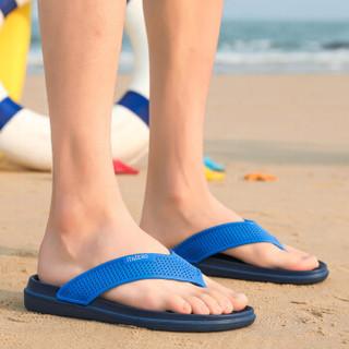 Nan ji ren 南极人 男士时尚简约夹脚户外沙滩人字拖鞋 JRLHH835 蓝色 40