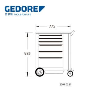 吉多瑞 (GEDORE)  2004 0321 工具车 H985xW775xD475mm 1640755