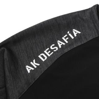 AK男装 (AKSERIES)都市特工相拼斜拉链运动型长袖T恤1809004 深花灰 S