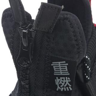 LI-NING 李宁 纽约时装周中国李宁系列重燃WS中帮篮球休闲鞋 AGBP028-1 标准黑/标准白 38
