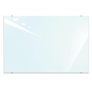 美硕100*150cm磁性钢化玻璃白板 悬挂式玻璃白板办公会议写字板黑板(赠送白板擦 白板笔 磁钉)