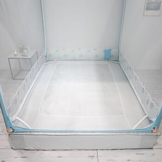 艾薇 蚊帐家纺 坐床式三开门方顶拉链公主欧式宫廷蕾丝  1.5米床 梦里花