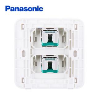 松下( Panasonic)开关插座面板 网络电脑插座面板 2位电脑墙壁弱电插座 格彩系列86型 WPC422MYL 玫瑰金色