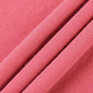 Gap旗舰店 女装棉质短袖T恤柔软弹力圆领内搭logo上衣女士打底衫 355266 巴洛克玫瑰色 M