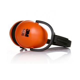 3M隔音耳罩1436噪音耳罩 折叠式设计可调高度28db可搭配降噪耳塞 红色 5副装