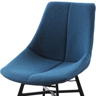 苏美特接待椅洽谈椅 会客椅办公室休闲钢架椅子优质高棉麻布SMT-1831