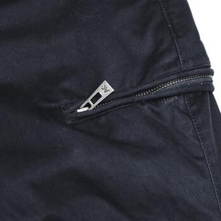 AK男装 (AKSERIES)都市特工轻磨毛宽腿收口男士休闲裤1612010 灰色 32