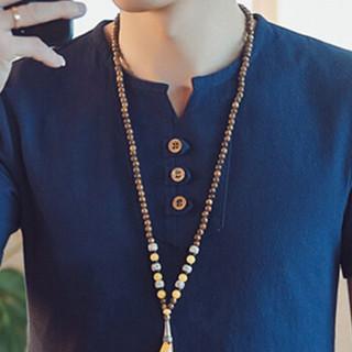 金盾(KIN DON)短袖T恤 2019夏季新款男士时尚百搭V领短袖T恤A082-T187藏青色M