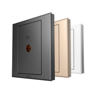 西蒙(SIMON) 开关插座面板 E3系列 一位电视插座 86型面板 雅白色 305111