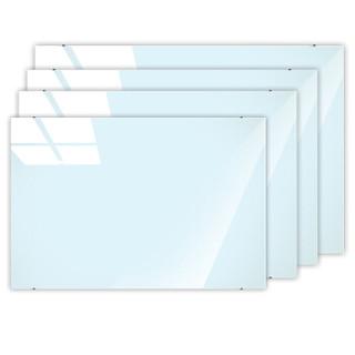 美硕 90*120cm磁性钢化玻璃白板 悬挂式玻璃白板办公会议写字板黑板(赠送白板擦 白板笔 磁钉)