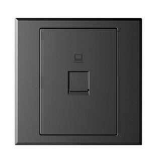 西蒙(SIMON) 开关插座面板 E3系列 一位电脑插座(六类) 86型面板 荧光灰色 305618-61