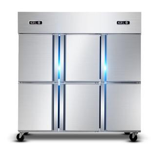 德玛仕 DEMASHI 六门全冷冻商用1300L冰柜工程款 大容量厨房保鲜髙身立式冷藏冷冻雪柜 KCD1.6L6 (全冷冻)