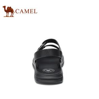 CAMEL 骆驼 韩版百搭舒适防滑两穿男士沙滩凉鞋 A922211582 黑色 41