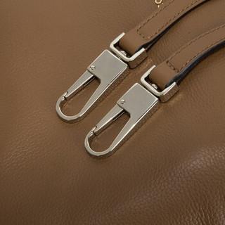COCCINELLE 可奇奈尔 女士棕色牛皮荔枝纹手提包单肩包 E1 BI0 13 01 01 012