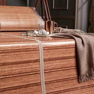 意尔嫚 凉席家纺 碳化生态竹席折叠双人竹藤两用席子1.5米床 似水流年