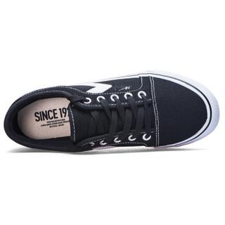 Double Star 双星   低帮帆布鞋男女2019新款学生休闲鞋经典款男女情侣鞋 982050 黑色-女款 40