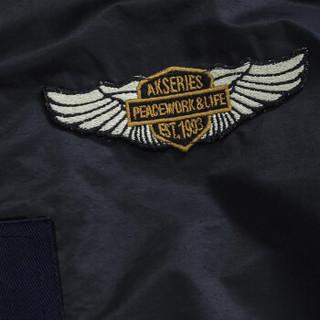 AK男装(AKSERIES)轻复古胸前绣花标夹克1704001