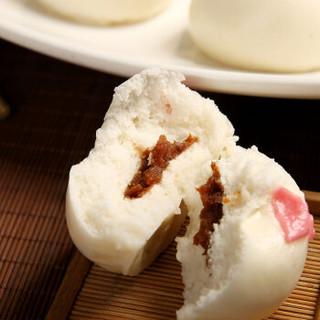 享口福 发财猪包 松软劲道甜香 卡通面点猪猪包豆沙包(12只)300g