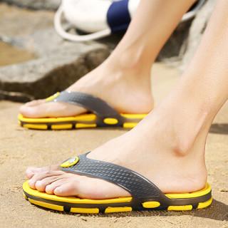Nan ji ren 南极人 男士时尚简约夹脚户外沙滩情侣款人字拖鞋 JRLMGT8813 男款黄色 39