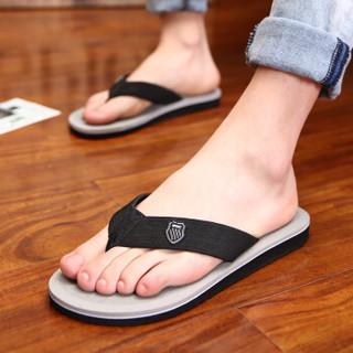Nan ji ren 南极人 男士时尚简约夹脚户外沙滩人字拖鞋 043WPS1515 灰色 40