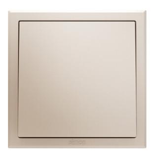 西蒙(SIMON) 开关插座面板 E3系列 一开多控开关 86型面板 香槟金色 301026-44