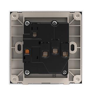 西蒙(SIMON) 开关插座面板 E3系列 五孔带开关插座 86型面板 雅白色 301086