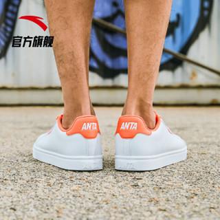 ANTA 安踏 生活系列 男士运动板鞋 91628004 安踏白/荧光热力橙 44.5
