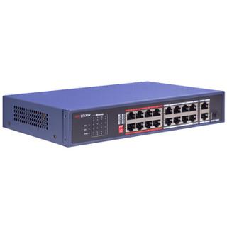 海康威视18口百兆交换机非网管型交换机 延长网线传输 DS-3E0318L-E