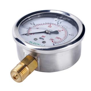 伊莱科 (ELECALL)耐震压力表 0-0.25MPA 充油气压表液压表油压表自来水压力表径向真空压力表  YTN-60