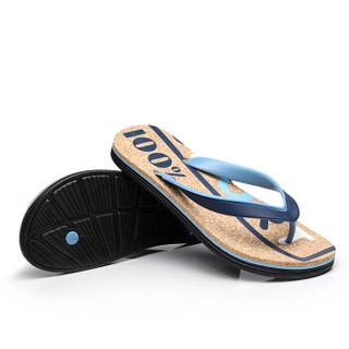 Nan ji ren 南极人 男士时尚简约夹脚户外沙滩人字拖鞋 043WPS5608 蓝色 43