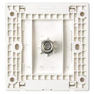 霍尼韦尔(honeywell)开关插座面板 一位电视插座 86型单联有线TV插座 境尚系列 白色