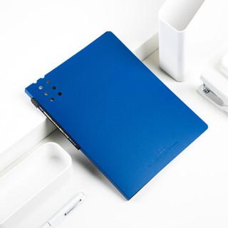 飞兹(fizz)20页A4磨砂资料册/彩色文件册/插袋文件夹 深蓝FZ102012