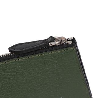 BURBERRY 博柏利 男士皮革钱包卡包 80059691 深蓝色古典绿色