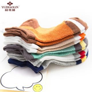 俞兆林(YUZHAOLIN)儿童袜子 男女童春夏薄款棉质短袜宝宝透气网眼袜5双装 宽后跟 L码