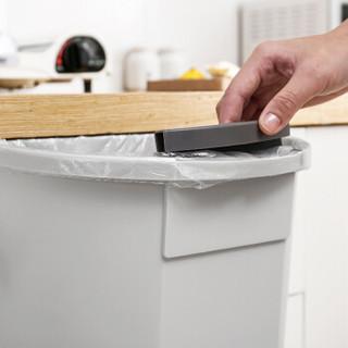 京东京造  悬挂式厨房垃圾桶 杂物收纳篮厨柜门挂式蔬菜果皮塑料杂物盒子 咖色