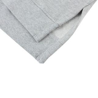 Gap旗舰店 女装加绒打底卫衣350905 女士通勤圆领内搭套头上衣 浅麻灰色 S