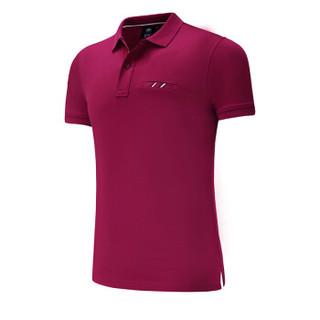 Lee Cooper    短袖POLO衫2019新品商务休闲青年潮流纯色翻领修身百搭款 LZ-8896 酒红 S