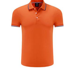 Lee Cooper      短袖POLO衫2019春季新款潮流百搭时尚休闲青年翻领 LZ-7518 桔红 2XL